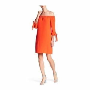 Vince Camuto Womens Tie Off-The-Shoulder Dress 12